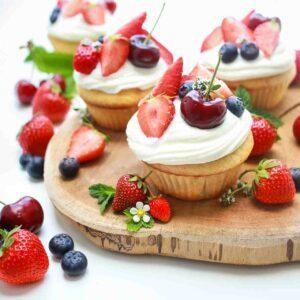 Cupcakes-mit-Beeren